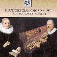 Paul Simmonds 17th & 18th C. German music for the clavichord by Buxtehude, Kuhnau, Muthel, W F Bach, Turk and Hassler (Ars Musici AM 1145-2)