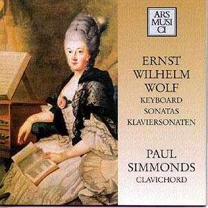 Ernst Wilhelm WOLF Sonatas Paul Simmonds, Clavichord